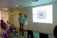 High fives: Dee Skinner and Peipei Yu
