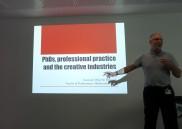 High fives: Prof Tim Wall